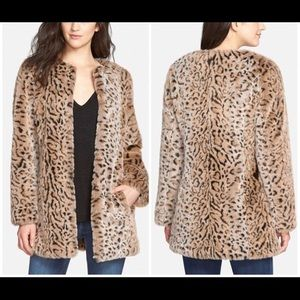 Faux-Fur Leopard Coat by Steve Madden